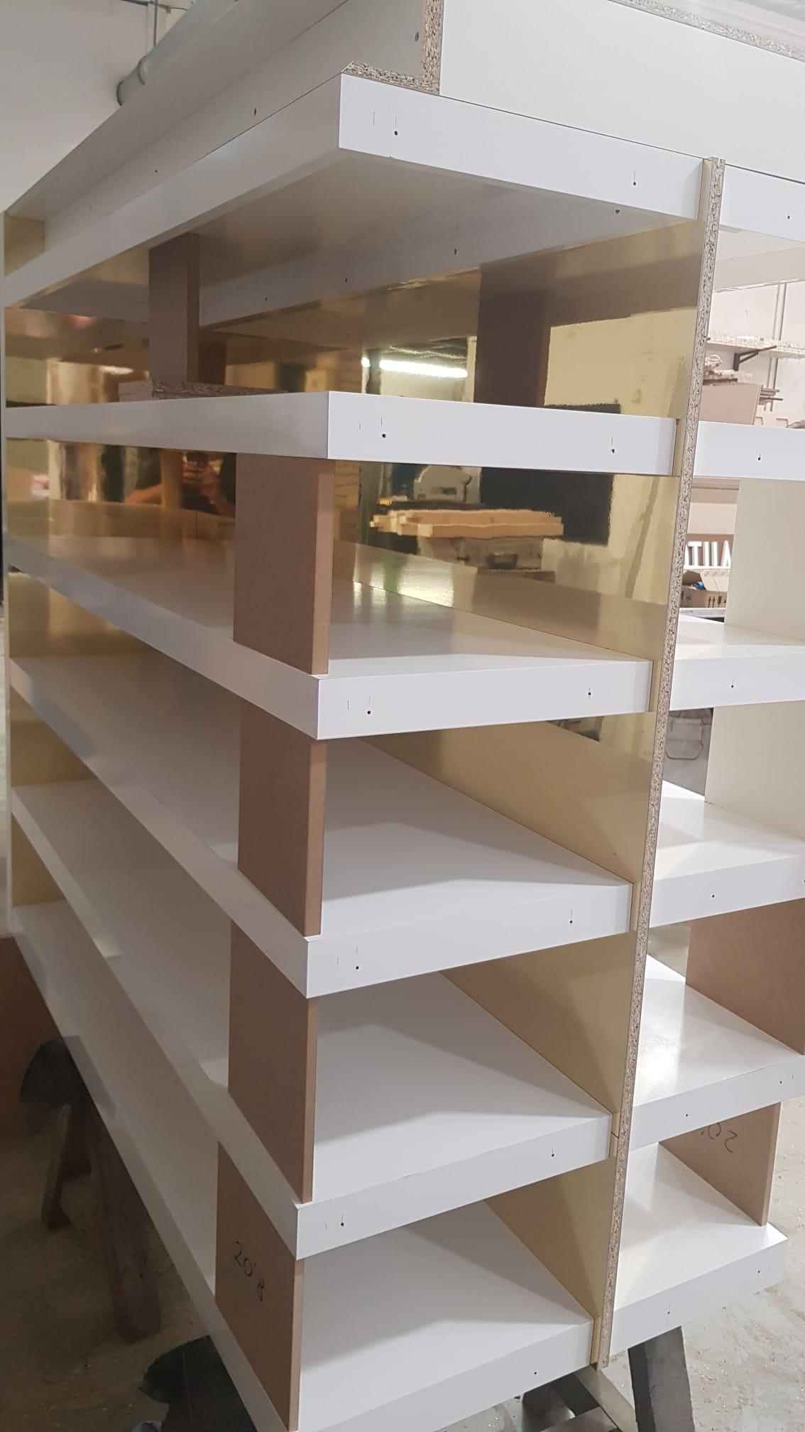 Custom furniture angle exhibits