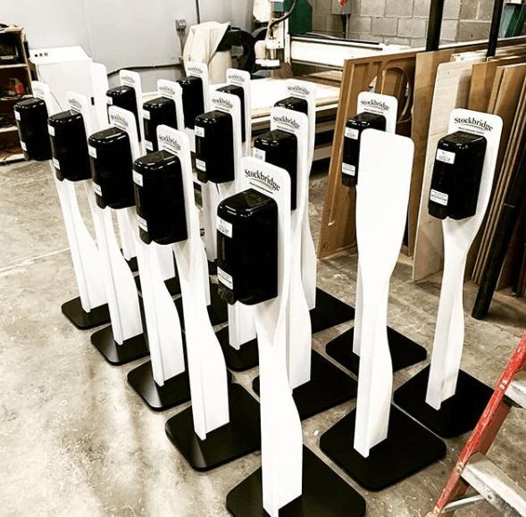 hydroalcoholic gel dispensers